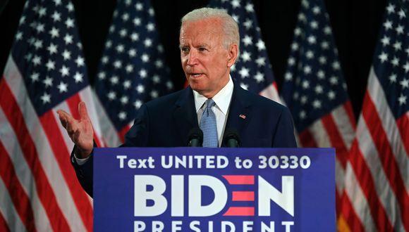 Joe Biden enfrentará a Donald Trump en las elecciones de noviembre en Estados Unidos. JIM WATSON / AFP).