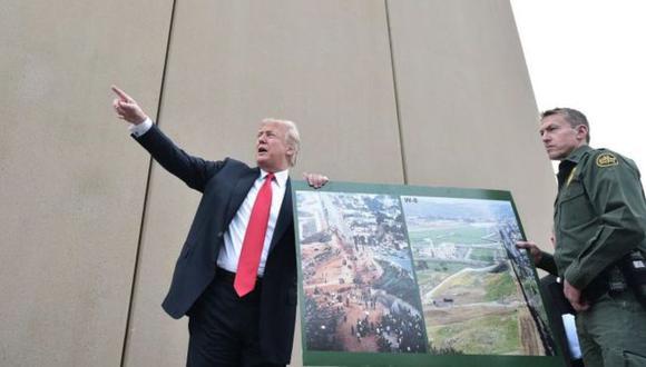 El proyecto de muro fronterizo del presidente de Estados Unidos, Donald Trump, requiere de unos US$25.000 millones. (Foto: AFP)