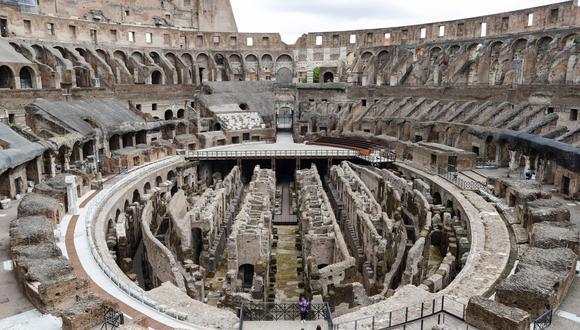 Imagen referencial. Vista actual del Coliseo Romano. AP