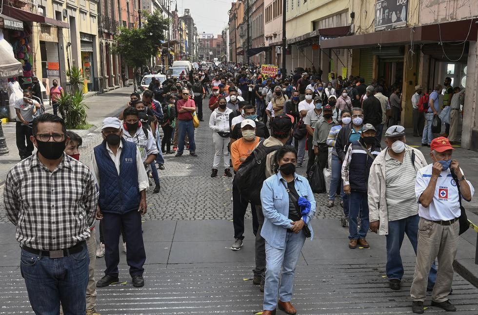 México autorizó la reapertura de restaurantes, tiendas, mercados callejeros y complejos deportivos, pero con limitaciones. capacidad y horas en medio de la nueva pandemia de coronavirus COVID-19. (Foto: ALFREDO ESTRELLA / AFP)