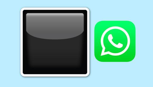¿Sabes realmente lo que significa el emoji del cuadrado negro en WhatsApp? (Foto: Emojipedia)