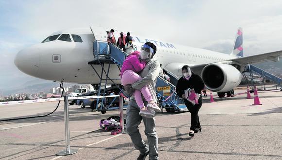 Latam dio a conocer la frecuencia de sus vuelos que empezarán nuevamente en los próximos días. (Foto: Renzo Salazar)