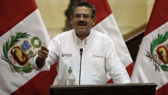 Manuel Merino, presidente del Congreso, criticó con dureza al Ejecutivo (foto: Congreso)