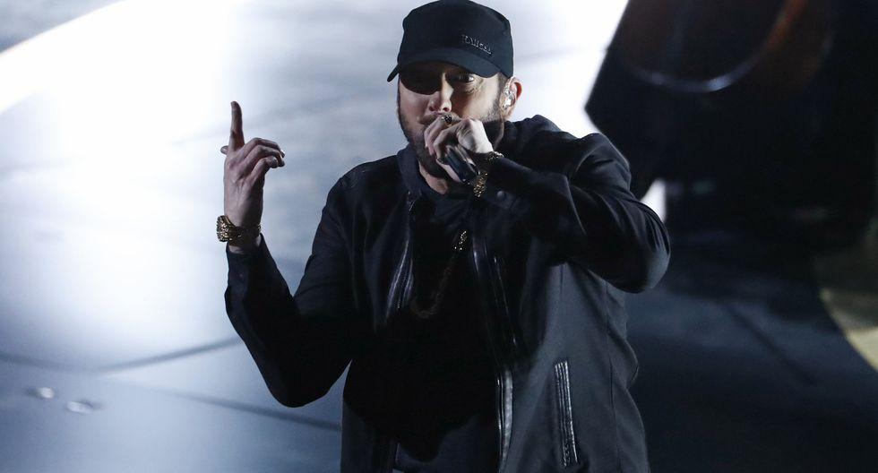 Eminem durante la última entrega del Premio Oscar. (Foto: AFP)