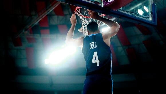 El Coliseo Dibós, la cancha donde se confirmó el resurgimiento del baloncesto argentino de la mano de Scola   Foto: Hector Vivas/Lima 2019