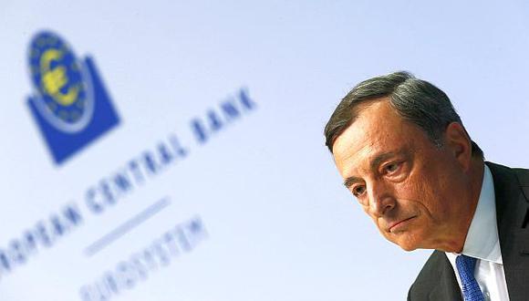"""Mario Draghi, presidente del Banco Central Europeo (BCE), dijo que la compra de bonos""""fue el único impulsor"""" de la recuperación de Europa. (Foto: Reuters)"""