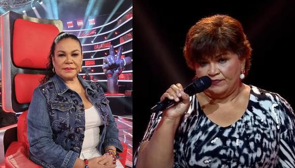 """Eva Ayllón criticó la participación de la comerciante ambulante de """"La Voz Senior"""". (Composición: captura Latina / Instagram)"""