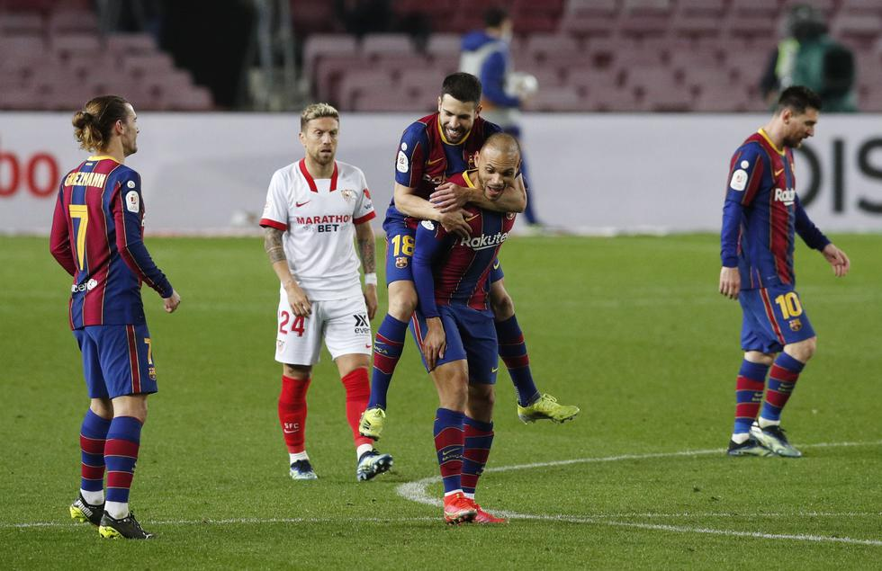 Barcelona enfrentó al Sevilla por la Copa del Rey