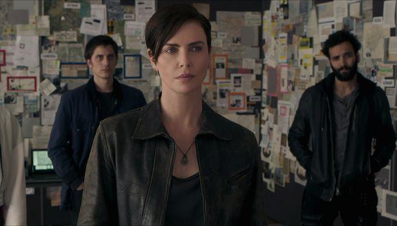 "Charlize Theron y el elenco de ""héroes"" de ""The Old Guard"". Foto: Netflix."