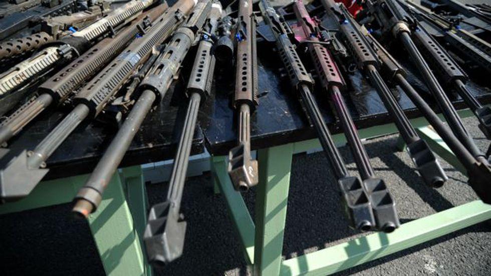 Hay más de dos millones de armas ilegales en México, dicen autoridades. Foto: AFP