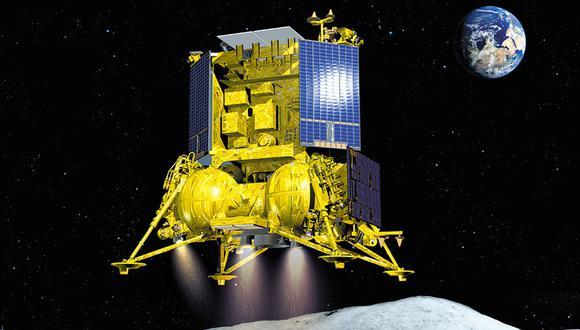 Ilustración de la sonda rusa Luna-25. (Roscosmos)