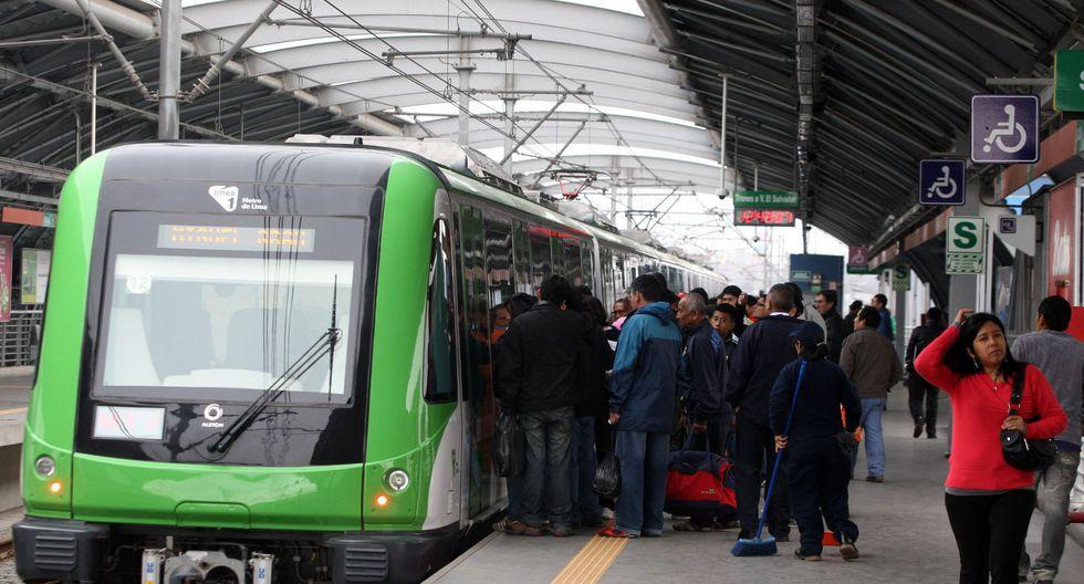 Los sábados 13,20 y 27 de octubre, los trenes circularán cada 7 minutos, anunció la empresa.(Foto: Andina)