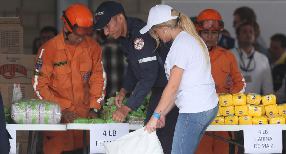 """También, enfatizó en que """"estas ayudas no serán entregadas en Colombia"""", por lo que """"no se están haciendo censos ni registros"""" ya que es en Venezuela en donde se """"está preparando toda la fase para la entrega"""". (Foto: EFE)"""