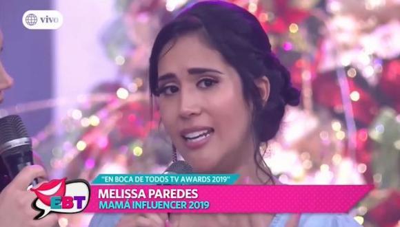 Melissa Paredes lloró por la situación de su familiar. (Imagen: América TV)