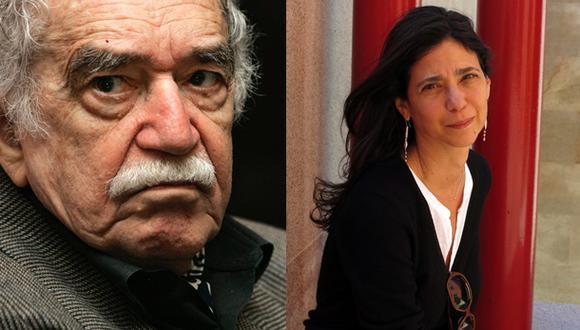 A la izquierda, Gabriel García Márquez, y a la derecha, la periodista Silvana Paternostro.