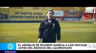 Ricardo Gareca y su fuerte mensaje a los hinchas peruanos