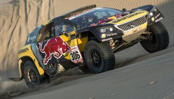 Loeb ya es tercero de la general a solo 16 segundos de Nani Roma. (Foto: Red Bull)