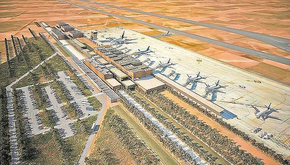 Según el MTC, el futuro aeropuerto de Chinchero recibirá hasta 6 millones de pasajeros anuales. Su inicio de operaciones está previsto para octubre del 2024. (Foto: MTC)