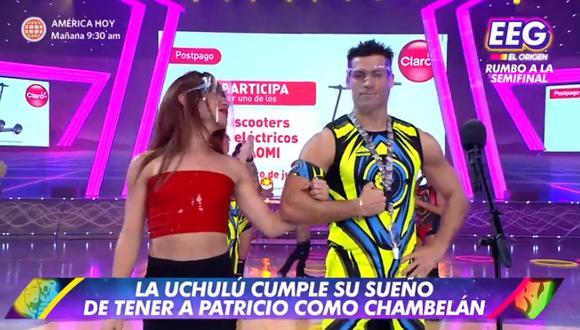 Patricio Parodi se convirtió en chambelán de 'La Uchulú'. (Foto: Captura América TV).