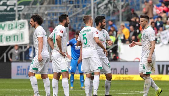 Claudio Pizarro ingresó en el complemento, cuando Werder Bremen ya vencía 1-0 al Hoffenheim. El marcador no cambió. (Foto: EFE)