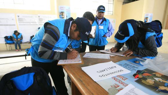 Según estimaciones del INEI, la inversión prevista para el censo en Perú en dólares (US$68 millones) es menor que lo registrado en países vecinos como Argentina (US$132 millones), Colombia (US$196 millones) o México (US$436 millones) Foto: archivo