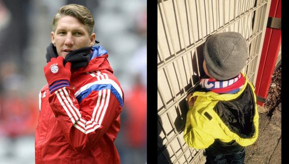 Niño no quiere lavarse cabello porque Schweinsteiger se lo tocó