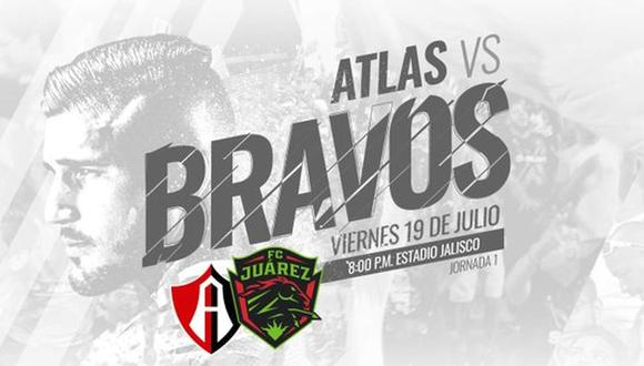Atlas vs. Juárez se miden por la fecha 1 de la Liga MX Apertura 2019. (Foto: @fcjuarezoficial)