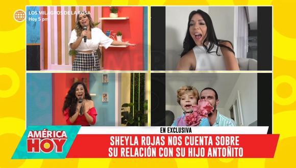 Sheyla Rojas habló sobre lo que significó la partida de su hijo Antoñito a España. (Foto: Captura de video)