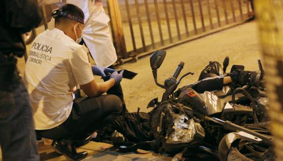 Dos delincuentes que asaltaron a una pareja fueron abatidos en San Martín de Porres en la noche del viernes 7 de mayo   Foto: César Grados / @photo-gec