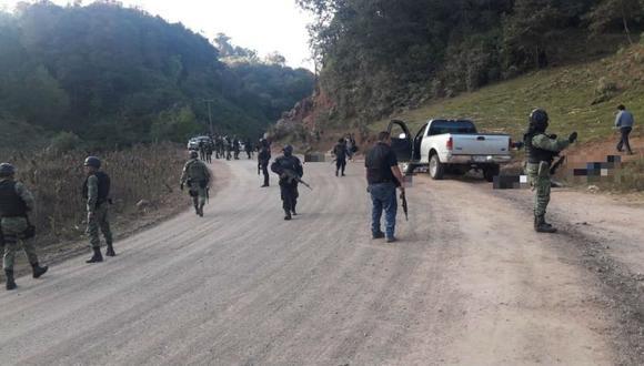 El choque armado se registró alrededor de las 3:00 p.m. en el camino que conduce a la comunidad Paraíso de Tepila, en el municipio de Chilapa, precisó el portavoz del gobierno de Guerrero. (Twitter @RAlvarezHeredia)