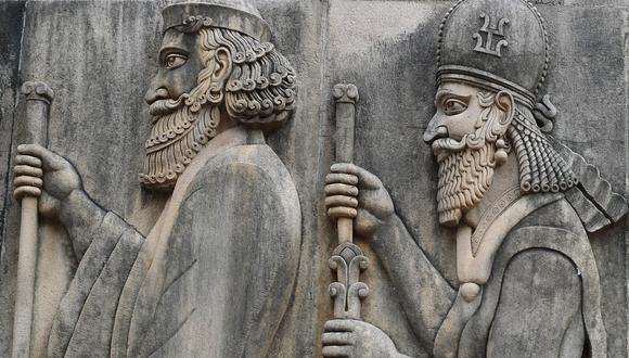 Imagen de archivo de figuras persas. (Foto: AFP)