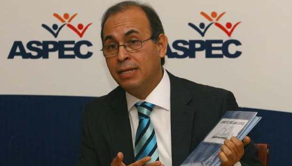 Crisólogo Cáceres, presidente de la Asociación Peruana de Consumidores (Aspec).
