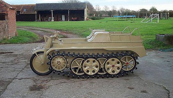 A la venta esta moto-tanque de la Segunda Guerra Mundial