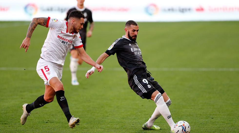 Sevilla y Real Madrid se enfrentaron en el estadio Sánchez Pizjuán por la fecha 12 de LaLiga Santander | Foto: @realmadrid