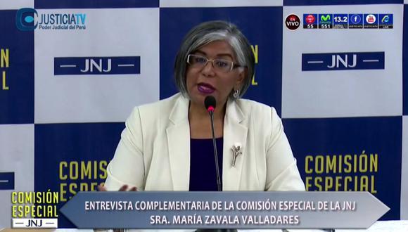 María Zavala jurará hoy al cargo en la JNJ a las 12:30 p.m. en la sede de la Contraloría General de la República. (Foto: captura)