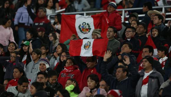 Perú vs. Argentina: así retumbó el estadio San Marcos con la entonación del Himno Nacional | Foto: Violeta Ayasta/GEC