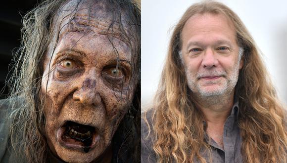 """Greg Nicotero, productor y director de """"The Walking Dead"""", también se ha dejado caracterizar como zombie en varias ocasiones. Fotos: Fox/ AFP."""