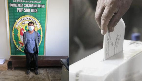 Se estaría cometiendo el presunto delito de suplantación de votante tipificado en el artículo 357 del Código Penal. (Foto: PNP)