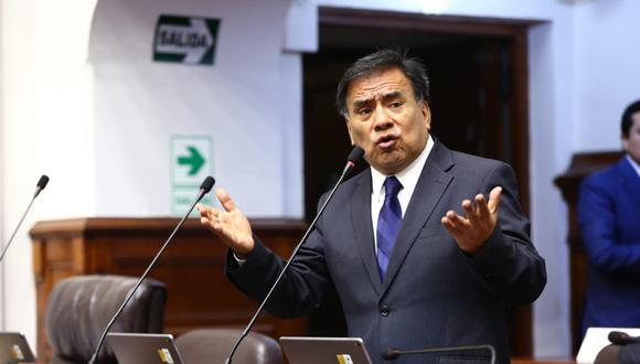 El congresista Javier Velásquez Quesquén se mostró en contra de presentar una moción de vacancia contra el presidente Martín Vizcarra. (Foto: Congreso)
