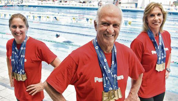 Natación: los masters de las medallas y los récords