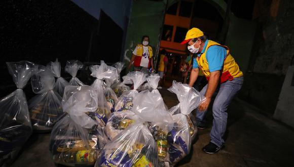 La Contraloría informó que este retraso afecta la finalidad de la ayuda que permitirá llevar alimentos de primera necesidad a las familias vulnerables (Foto: Municipalidad de Lima).