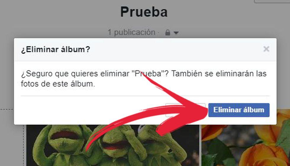 Así puedes eliminar un álbum de Facebook. (Foto: Facebook / El Comercio)