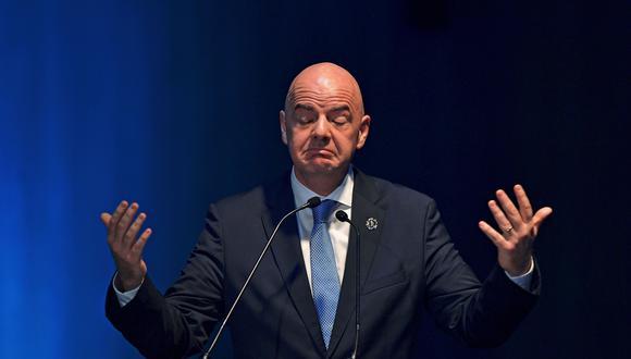 Infantino, presidente de la FIFA. (Foto: AFP)