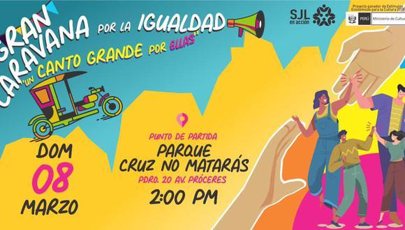 Colectivo SJL en Acción convoca a una marcha contra la violencia hacia la mujer este domingo 8 de marzo. (Foto: Difusión)