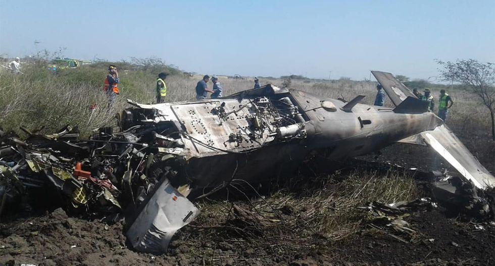 La tripulación de la aeronave se encontraba realizando adiestramiento en vuelo. (Foto: Sedena)