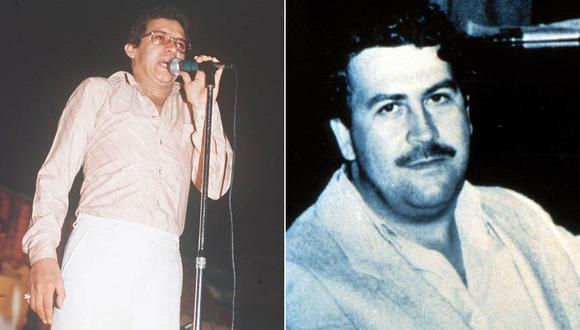 Héctor Lavoe y Pablo Escobar. (Foto: Archivo El Tiempo de Colombia, GDA)