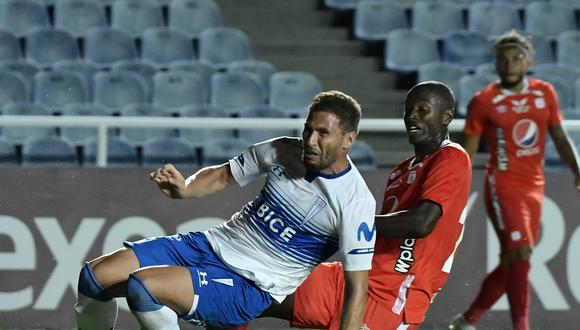 América de Cali dejó escapar tres importantes puntos ante Universidad Católica, por la fecha 4 del grupo E por Copa Libertadores. (Foto: AFP)