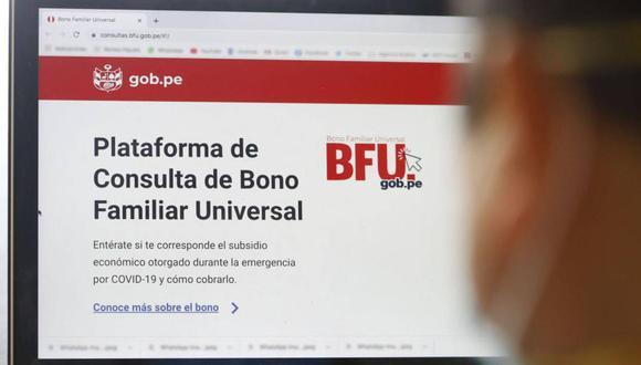 Cronograma actualizado del segundo Bono Familiar Universal. Los pagos se realizarán hasta diciembre (Foto: Andina)