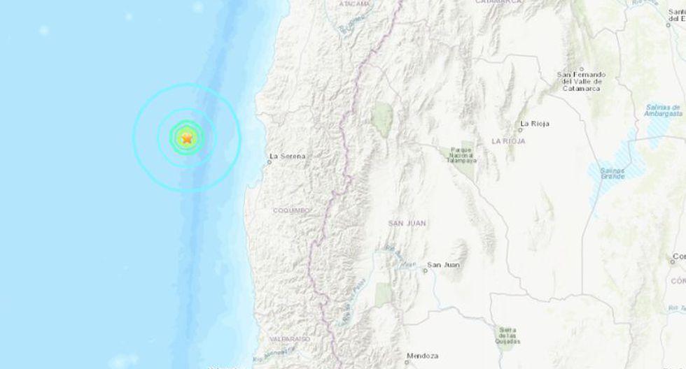 Chile: Sismo de magnitud 5,7 sacude la región de Coquimbo. (Foto: Captura)