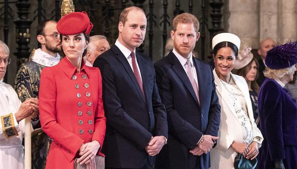 La relación entre Guillermo de Cambridge y Enrique de Sussex tuvo momentos tensos, pero el nacimiento de Lilibet Diana es motivo de alegría. (Foto Richard Pohle / AFP)